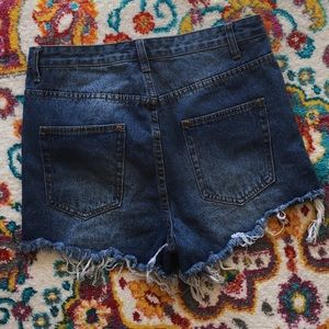 PrettyLittleThing Shorts - NWOT PLT Distressed High-Waisted Cut-Off Shorts